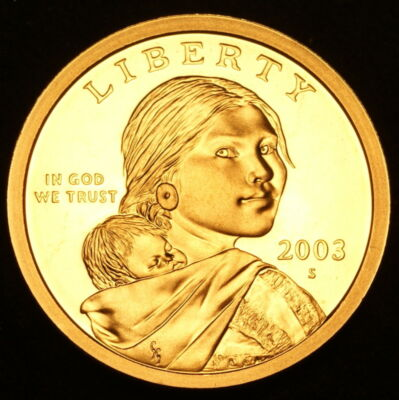 2008 S Sacagawea Gem Proof Dollar ~ With Eagle in Flight Reverse
