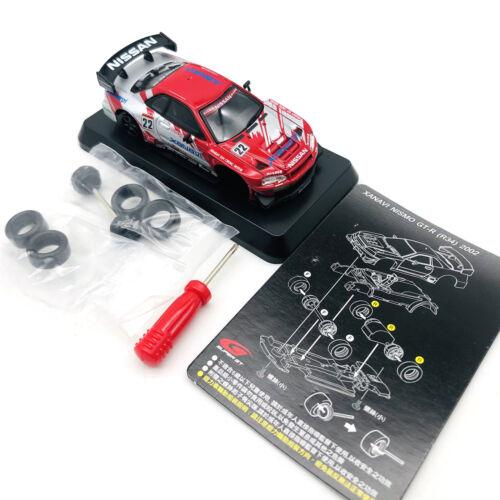 1:64 Nissan GTR R34 2002 XANAVI Model Car Toy Metal Diecast Vehicle Kid Gift NEW