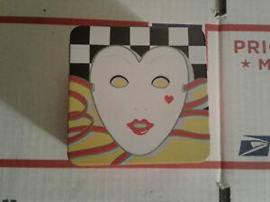 Decorative-Tin-Box-vintage-Vandor-1984-Japan-Pelzman-Design-Cookie-Jar