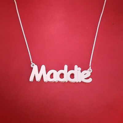 necklace with my name Sterling silver name necklace personalized name chain