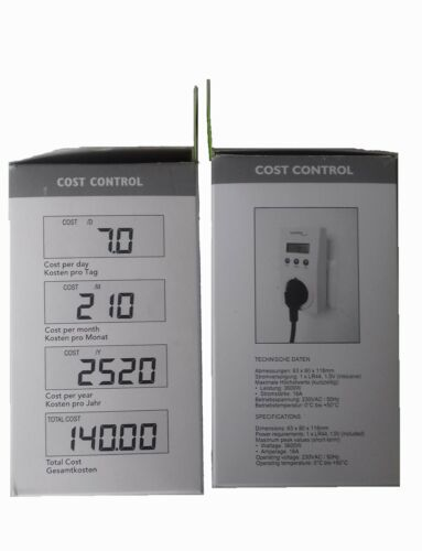 Energiespargerät Technoline Cost Control  Energie Kosten Messgerät Stromzähler