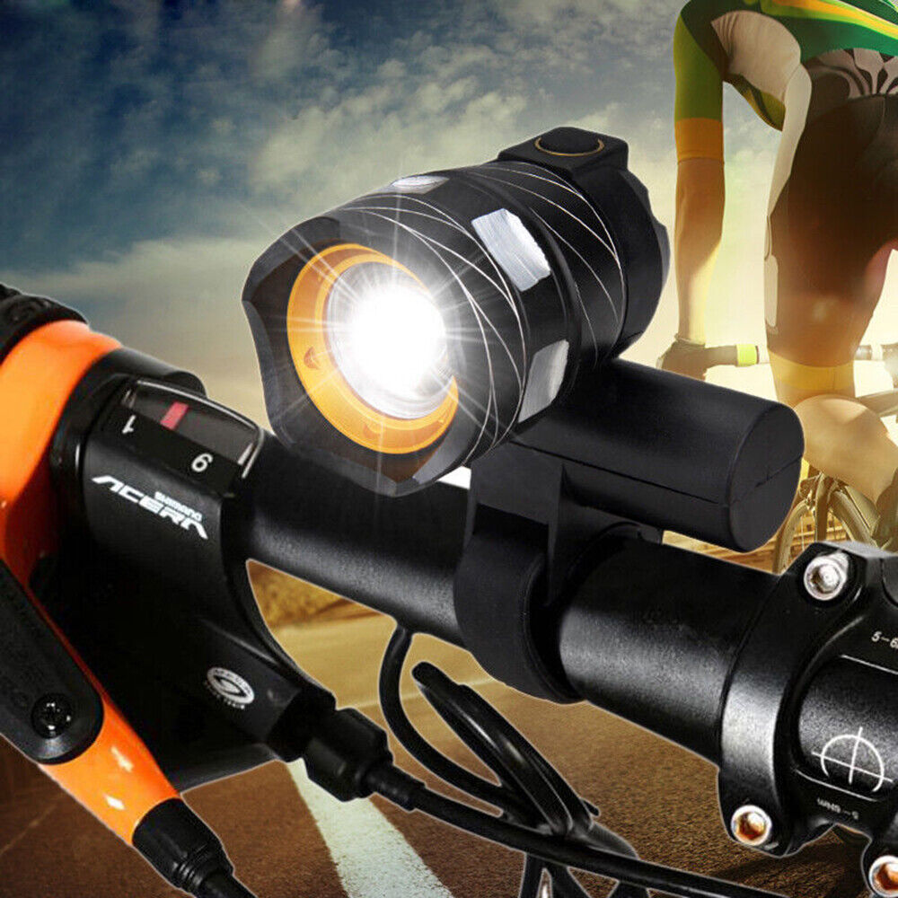 Rechargeable 15000LM XM-L T6 LED MTB Bicycle Light Bike Lamp Front Headlight+USB