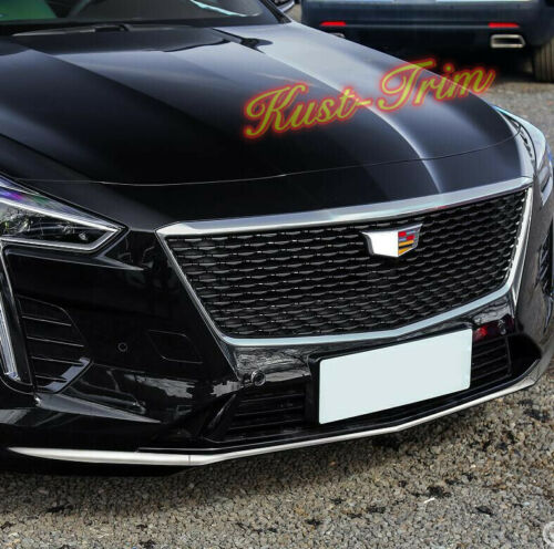 Chrome Front Bumper Lip Cover protect  Cover Molding 3PCS For Cadillac CT6 2019