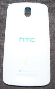 Original HTC Desire 500 Akkudeckel Battery Cover Tasten Weiss Türkis Blau