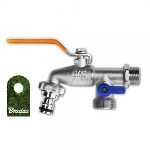 Doppelanschluss-Kugelhahn-Wasserhahn-1-2-039-AG-mit-2-x-AG-3-4-039-Abgang-BRADAS-2977