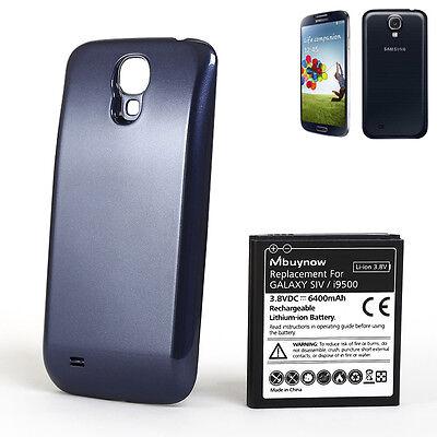 6400mAh Mbuynow Ersatzakku Batterie mit Deckel für Samsung Galaxy S4 I9500