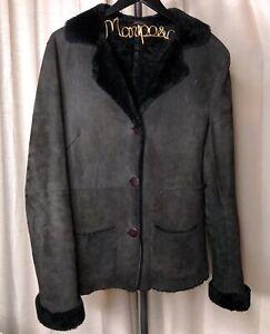 The-Best-Original-Shearling-Coat-Black-Women-s-Size-Large-Made-In-Turkey-Vtg