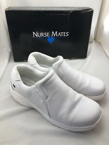 Men's Clothing Nurse Mates White Leather Shoes 8.5 Size