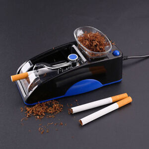 Electric-Automatic-Cigarette-Rolling-Machine-Tobacco-Injector-Maker-Roller-Blue