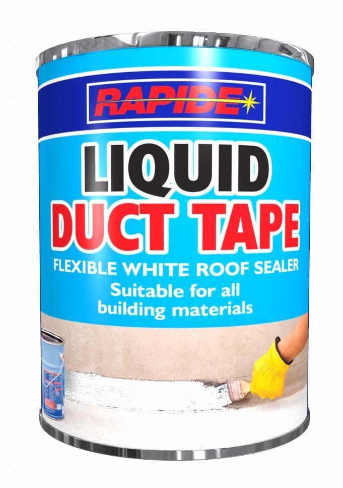 Details About X1 Rapide Flexible Durable White Adhesive Roof Sealer Liquid Duct Tape Diy 500ml
