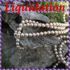 220 Perles de Bohême en verre nacré 8 mm