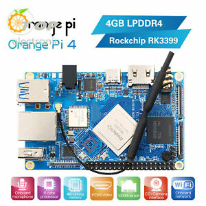 Orange Pi 4/4B 4GB DDR4+16GB EMMC Flash RK3399 Dual Quad core Cortex