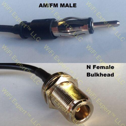 USA-CA RG142 AM//FM MALE to N FEMALE BULKHEAD Coaxial RF Pigtail Cable