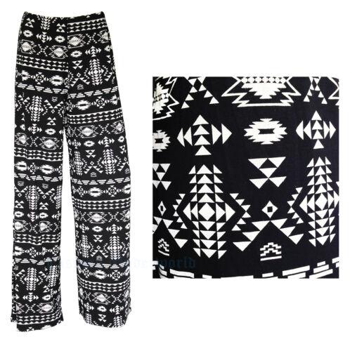 Ladies Floral Print Palazzo Trousers Womens Summer Wide Leg Pants Plus Size 8-26