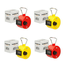 4 x Hand Tally Counter Clicker (Red and Yellow) The-Security-Store