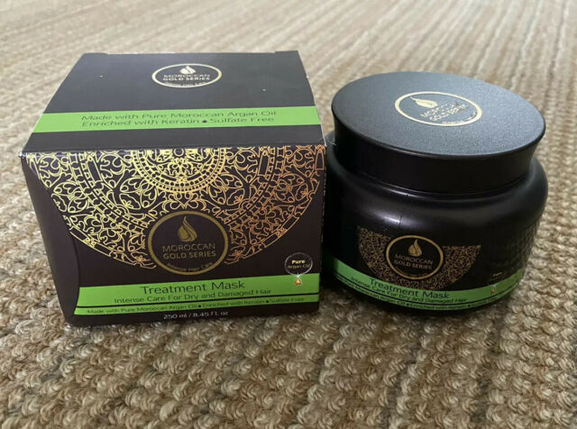 NIB Moroccan Gold Series Pure Argan Oil Treatment Mask for Dry and Damaged Hair
