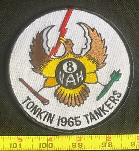 US Military VAH-8 Heavy Attack Squadron Eight Tonkin 1965 Tankers Iron On Patch