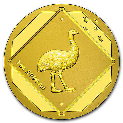 2015 Australia 1 oz Gold $100 Emu Road Sign BU - SKU #87440
