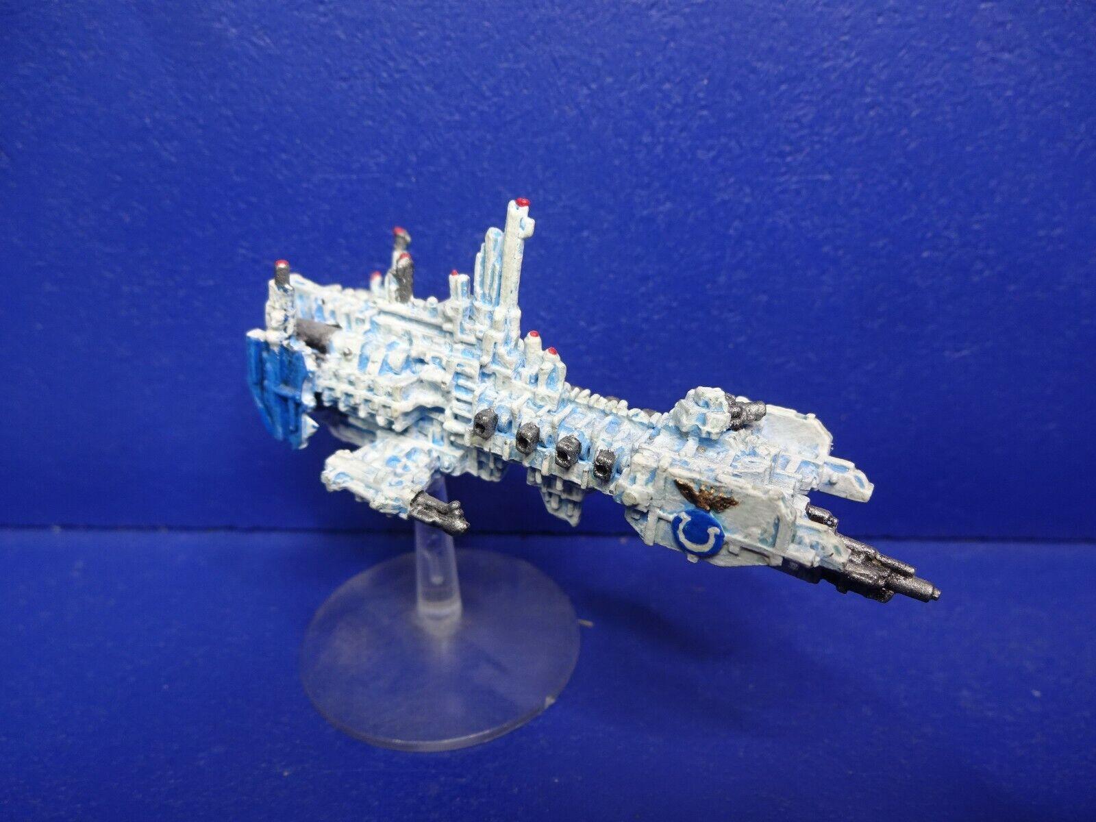 Rareza  Space Marine Strike Crucero para Battlefleet Gótico Buena Pintado 1