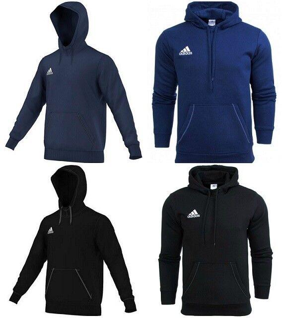 Adidas Mens Fleece Hoodie Sport Winter Training Pullover Hoody Schwarz Marineblau