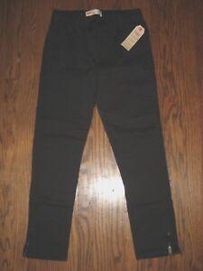 New-girls-large-12-14-Levi-039-s-black-pull-on-pant-pants-elastic-waist-ret-48