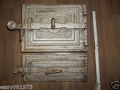 Um 1890 Buy One Give One Eisentür,jugendstil Modest Alte Schön Verzierte Ofentür Kamintür Eisen-guss