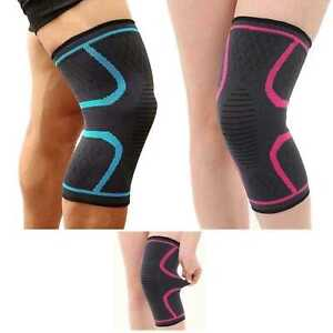 Knee-Sleeve-Compression-Brace-Support-Joint-Pain-Arthritis-Crossfit-Size-L-M-S