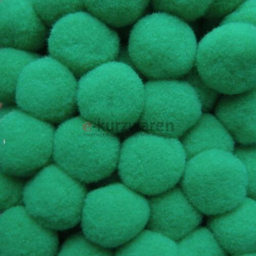 100 pompones 20mm borla bricolaje coser fieltro colores guata balas pelotas canicas 2cm