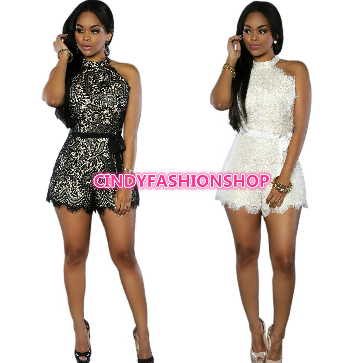 US Seller Women Clubwear U Neck Playsuit Bodycon Party Jumpsuit/&Romper Trousers