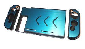Nintendo-Switch-Console-Turquoise-Blue-Aluminium-Metallic-Shell-Case-Protector