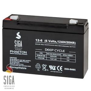 SIGA-AKKU-12AH-6V-AGM-GEL-Batterie-PEREGO-FUR-KINDERAUTO-Elektroauto-Gelakku