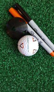 Golf Ball Marker - Triangle Alignment Stencil