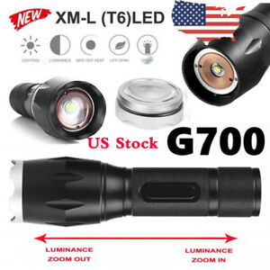 Details about G700 X800 Portable LED Tactical Military XM-L Flashlight  Torch Waterproof Zoom