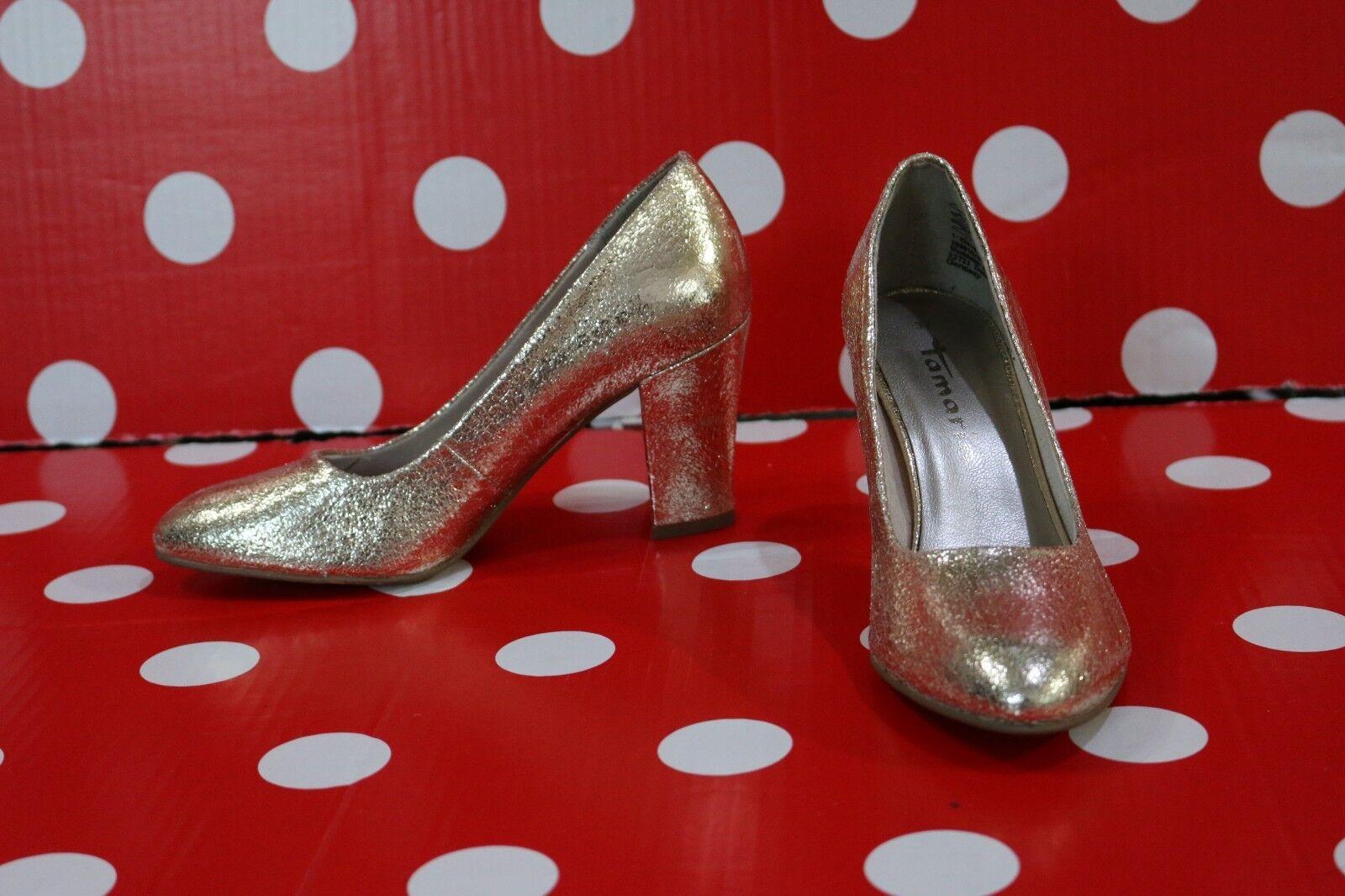newTamaris women 22416 heels sz37 shoes women newTamaris gold 3ffbf3