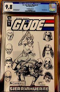 GI-Joe-Sierra-Muerte-1-CGC-9-8-ComicsPRO-Mychaels-B-amp-W-Sketch-Variant-IDW-2019