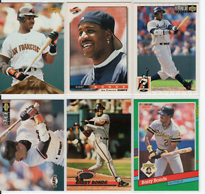 FUTURE-HALL-OF-FAMER-BARRY-BONDS-1990-039-s-CARD-LOT-X6-PIRATES-GIANTS-4