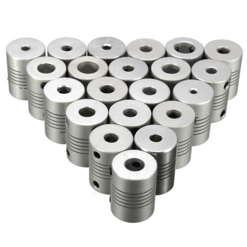 Flexible Wellenkupplung Kupplung Alu für Schrittmotor Drucker CNC Motor D19L25