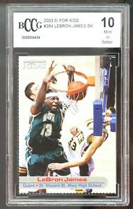 2003-SI-For-Kids-264-LeBron-James-Rookie-Card-BGS-BCCG-10-Mint