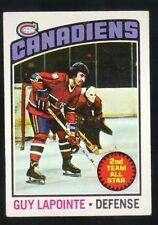1975 - 1976 Topps Hockey Set GUY LAPOINTE Card