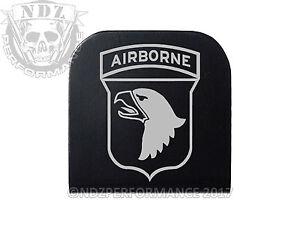 Hat Clip Army Airborne 101st Black NDZ Engraved