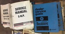 Lot of 31 OEM Chrysler and Force Outboard Shop Service Manuals