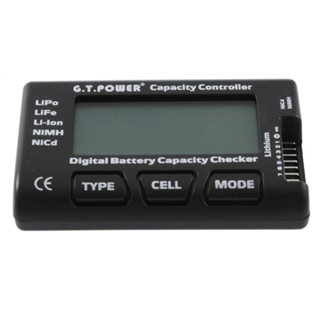 RC 7 Function Digital Voltmeter Battery Tester For LiPo LiFe Li-ion Nicd NiMH LK