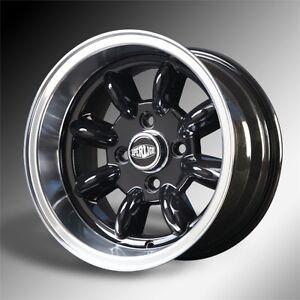 Ford Austin Mini 13x7 Alloy Wheels Black Hi Lite X 4 Superlight