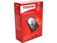 Toshiba Desktop Internal Hard Drive Hdwd130xzsta 3tb 7200 Rpm 64mb Cache on sale