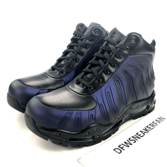 low cost e7c4b c3c15 Nike Air Max Foamdome Men s 9.5 Foamposite Eggplant Boots 843749-500 New  Shoes