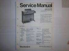 Original Service Manual  Schaltbild für Technics-Orgel SX-U15 Technics