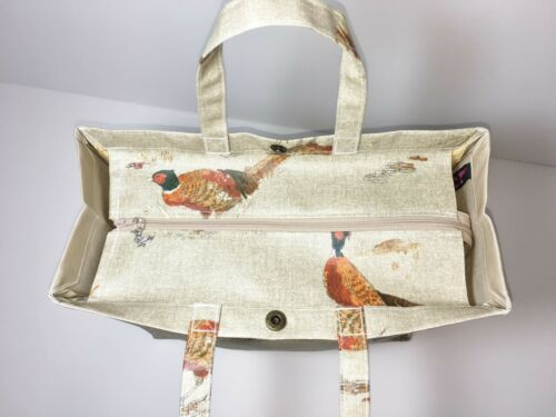 Nikki/'s Original Totes Cotton Oilcloth Bags Sandringham Pheasants or Hares