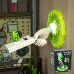 Lampe-Rick-et-Morty-Lamp-Portal-Gun-dessus-or-Mur-Lumiere-31-cm-Paladone