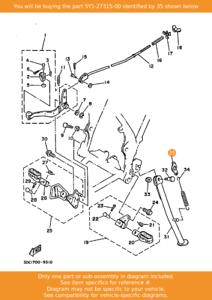 Yamaha XT600 OEM side stand
