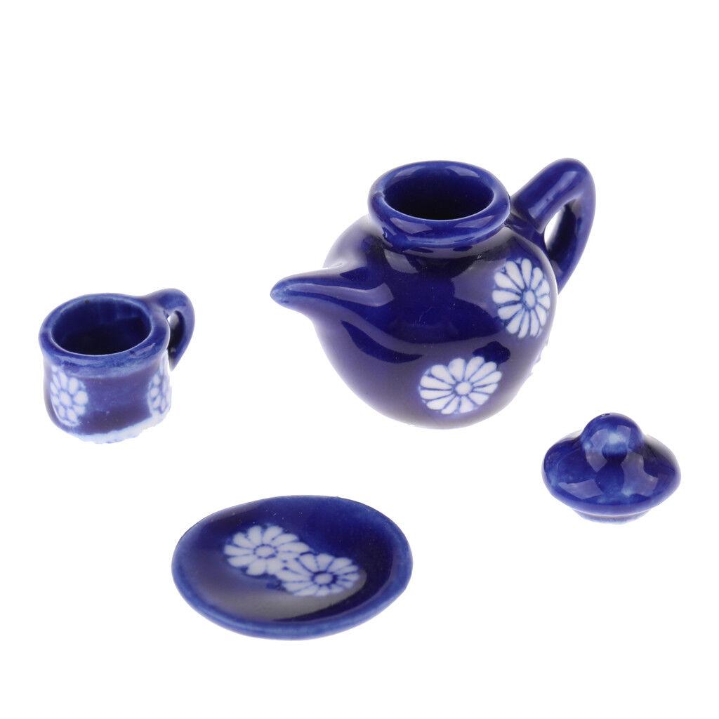 1 12th Teaware 15pcs Ceramic Tea Set Dolls Dolls Dolls House Miniatures Chrysanthemums 75b9c3